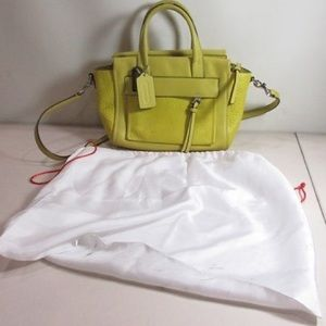 Coach Yellow Leather Purse Woman's W/ Sleeper Bag